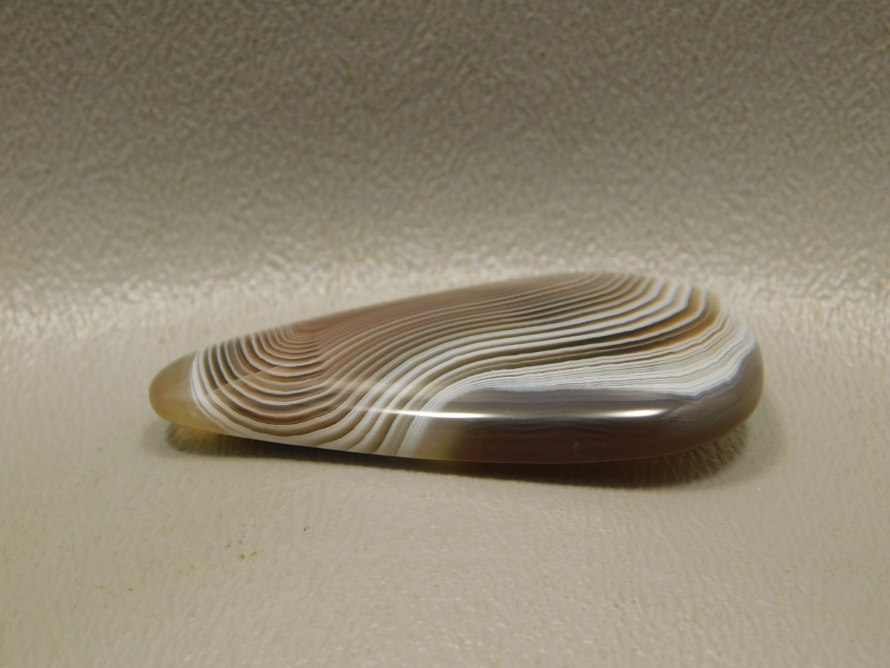 Gray Pink Banded Botswana Agate Striped Stone Cabochon #6