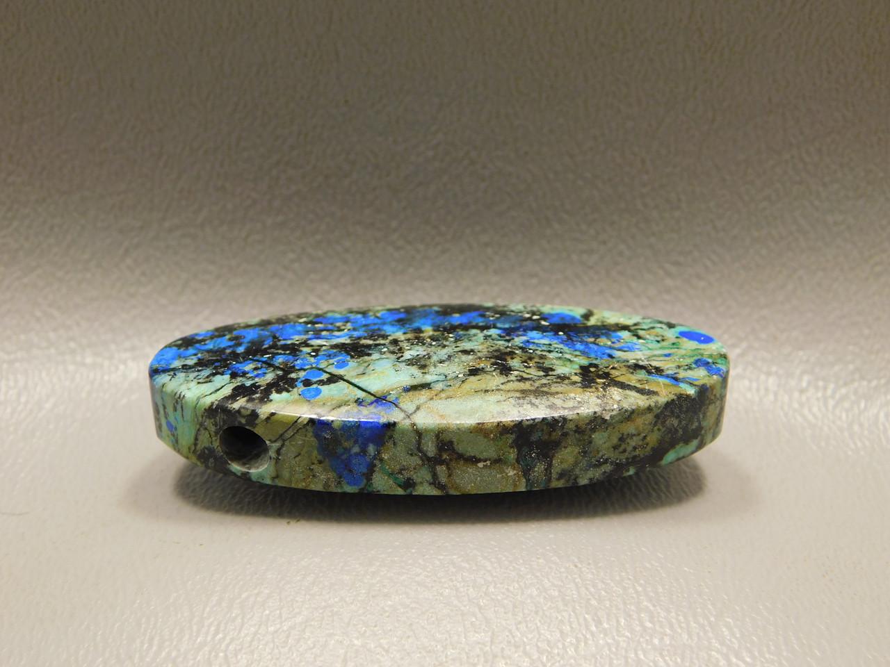 Azurite Malachite Stone Bead Pendant #1