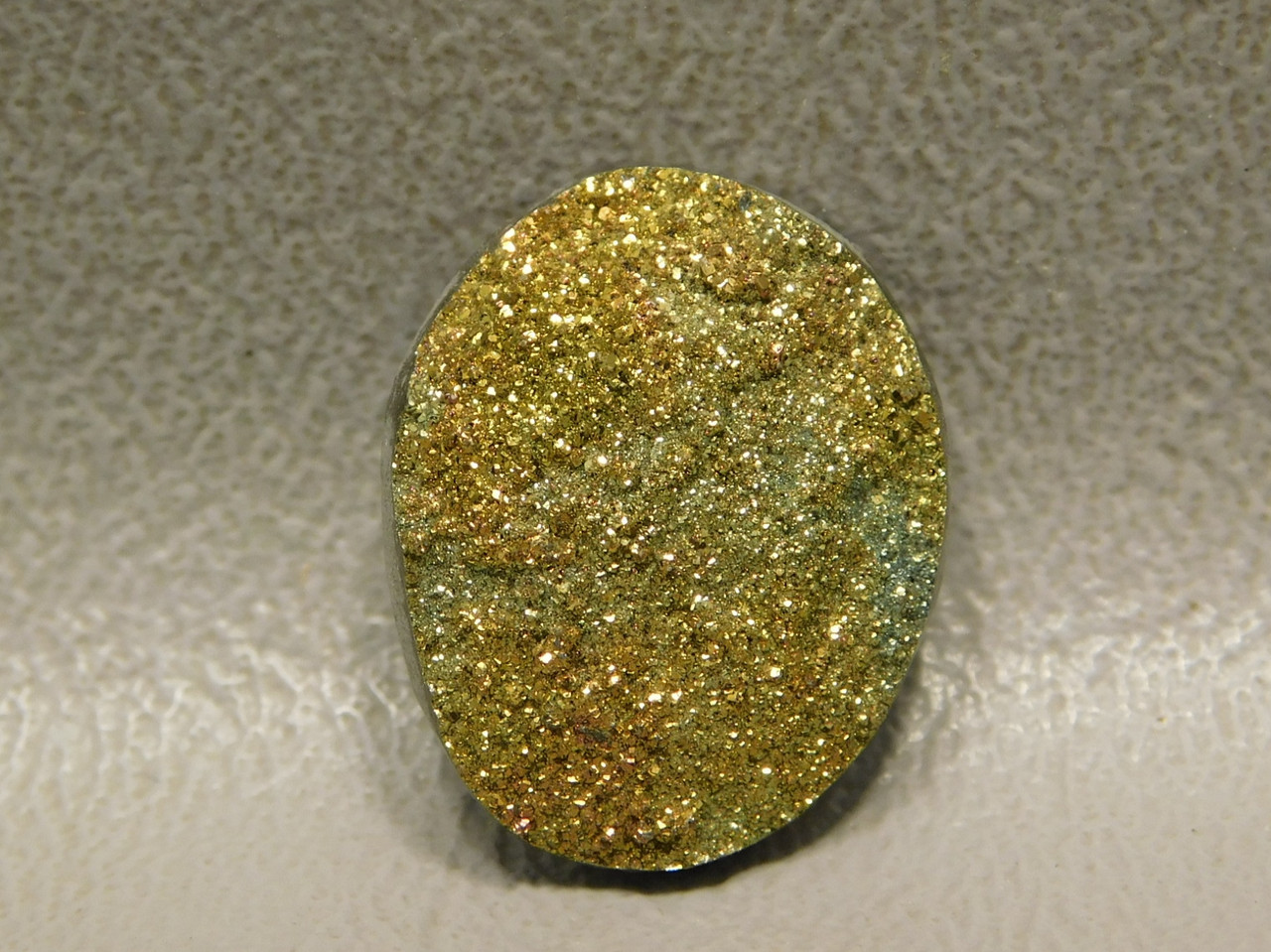 Sparkling Orange Yellow Rainbow Pyrite Stone Cabochon #18