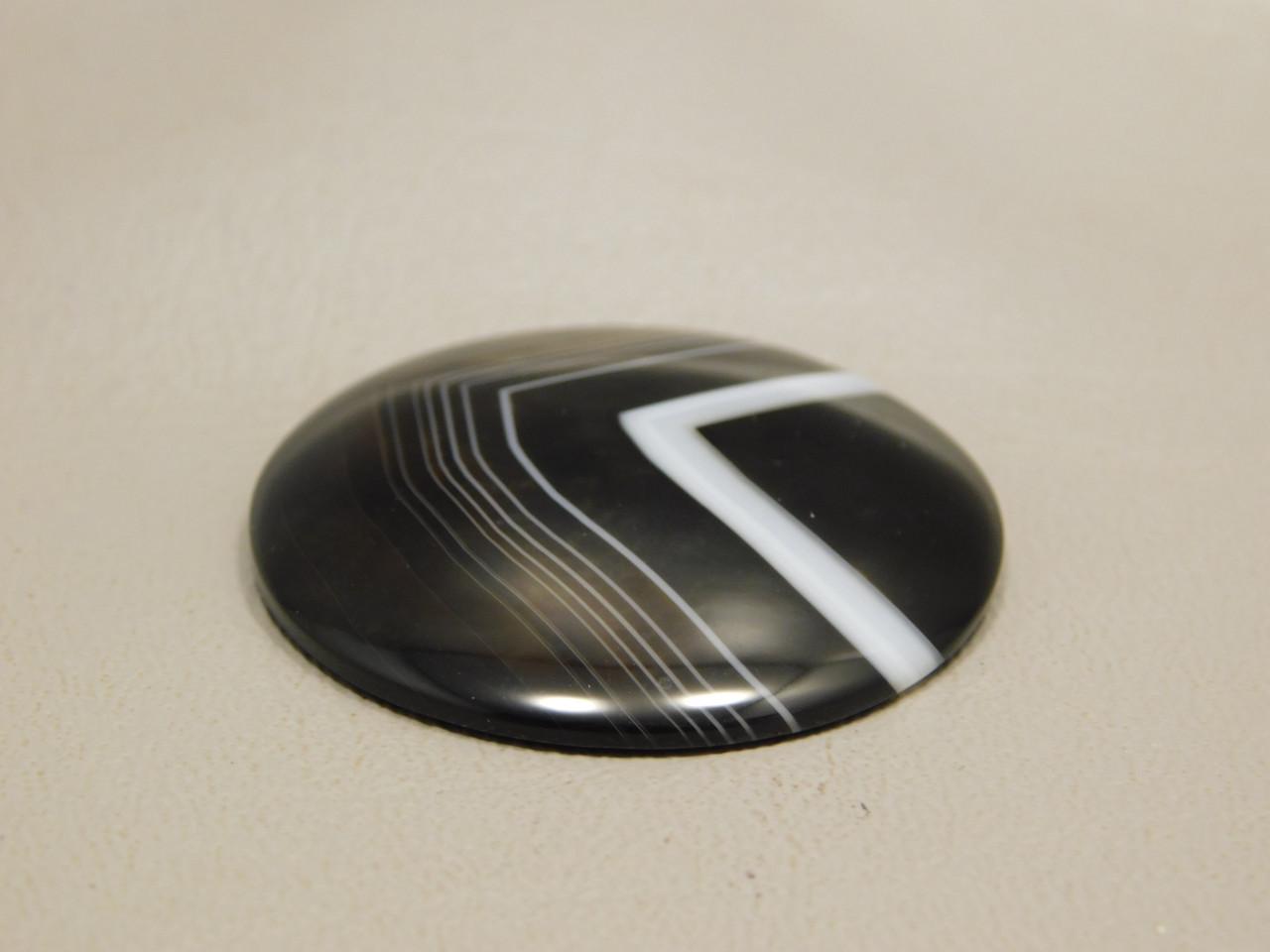 Tuxedo Agate Custom Cut 35 mm Round Cabochon Gemstone #9