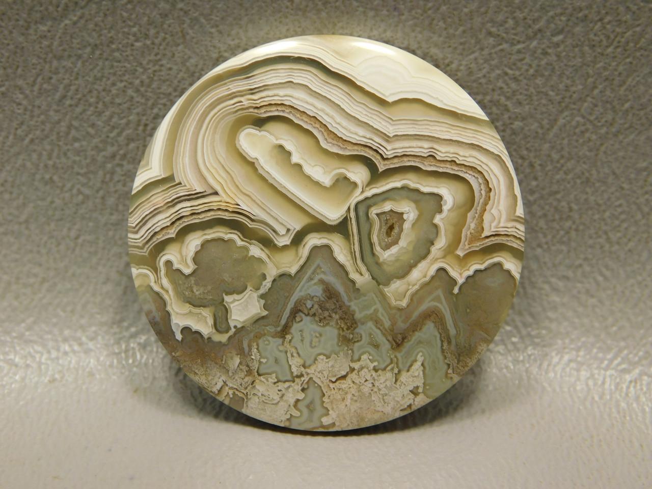 Crazy Lace Agate 34 mm Round Gemstone Cabochon #11
