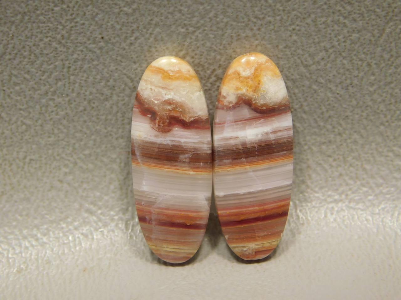 Candy Opal Matched Pair Holite Opal Utah Cabochon Stones #1