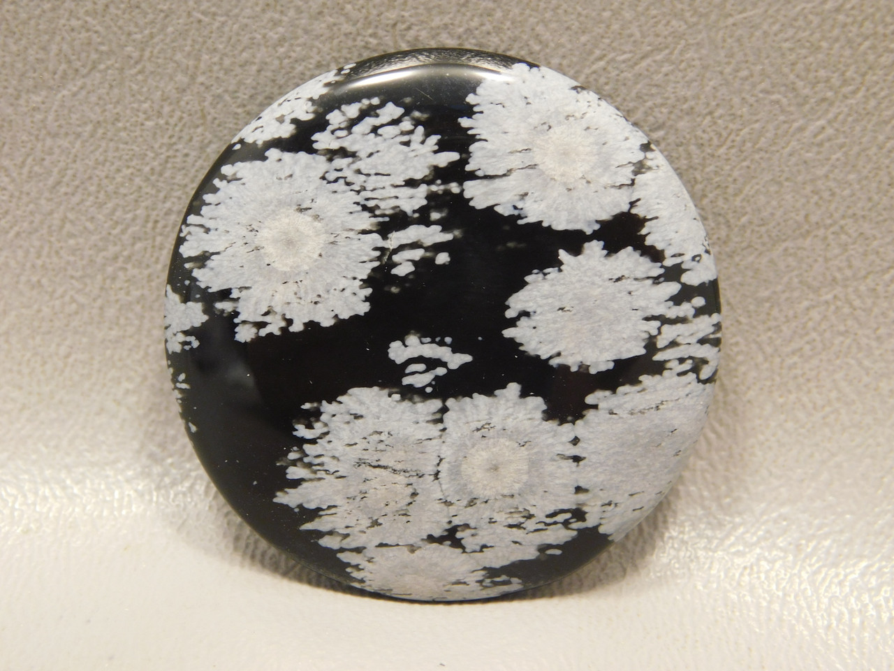 Snowflake Obsidian Cabochon 39 mm Round Stone #6