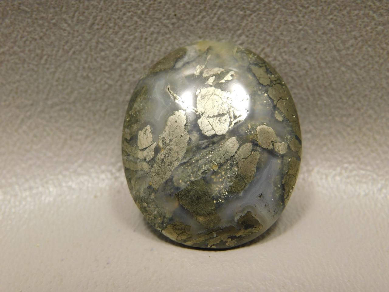 Marcasite and Pyrite Nipomo Agate Cabochon Stone California #16