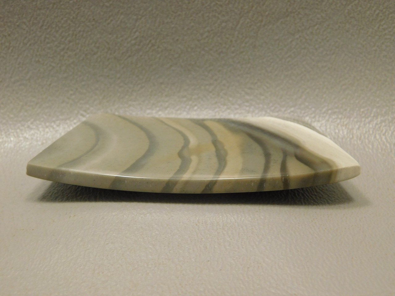 Polish Flint Designer Cabochon Curved Bar Freeform Shape #8