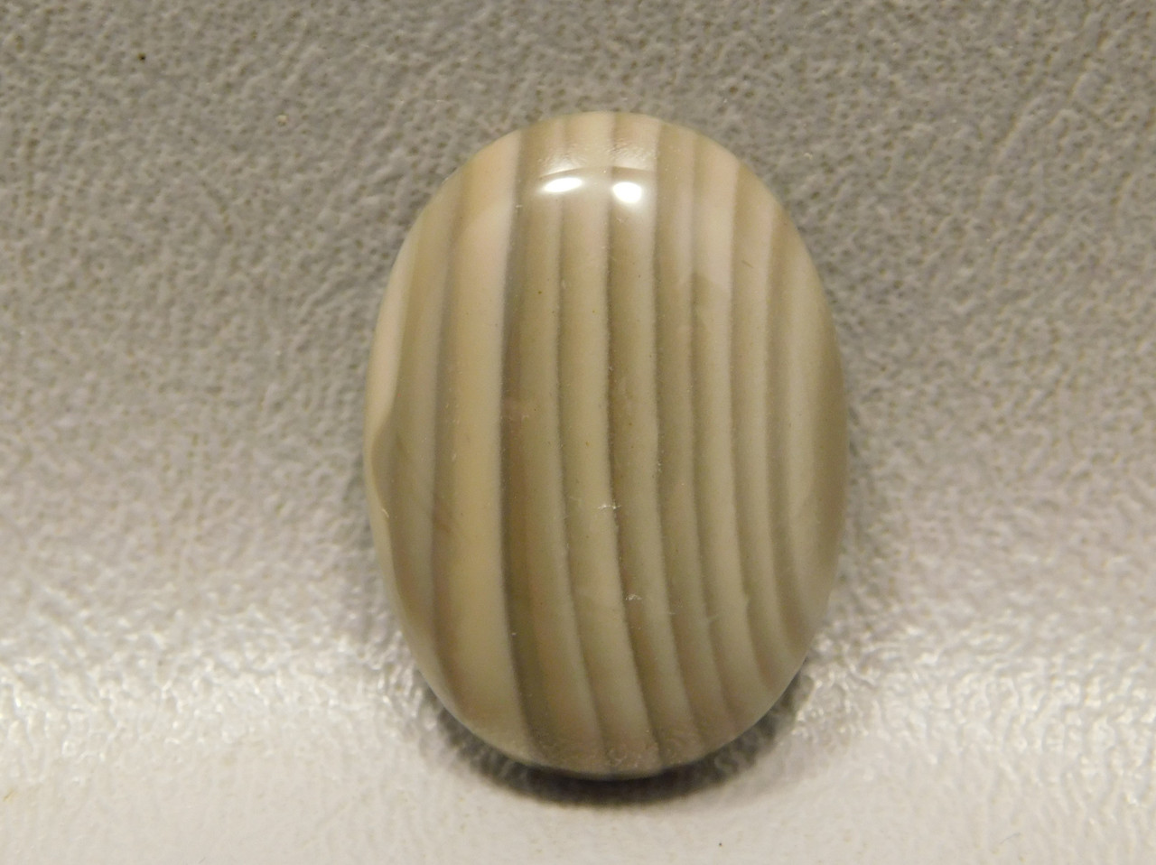 Cabochon Stone Striped Polish Flint  25 mm by 18 mm Oval #20