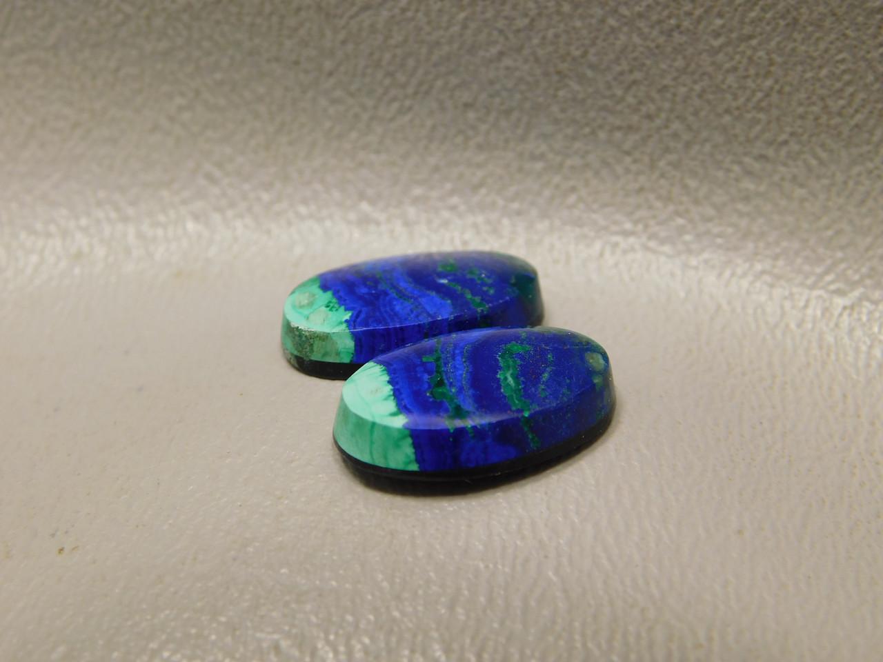 Azurite Malachite Blue Green Matched Pairs Cabochons Ovals #25