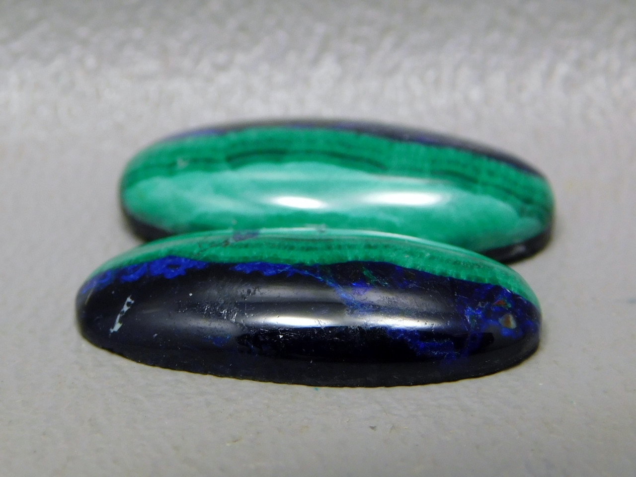 Azurite Malachite Blue Green Matched Pairs Cabochons Ovals #35