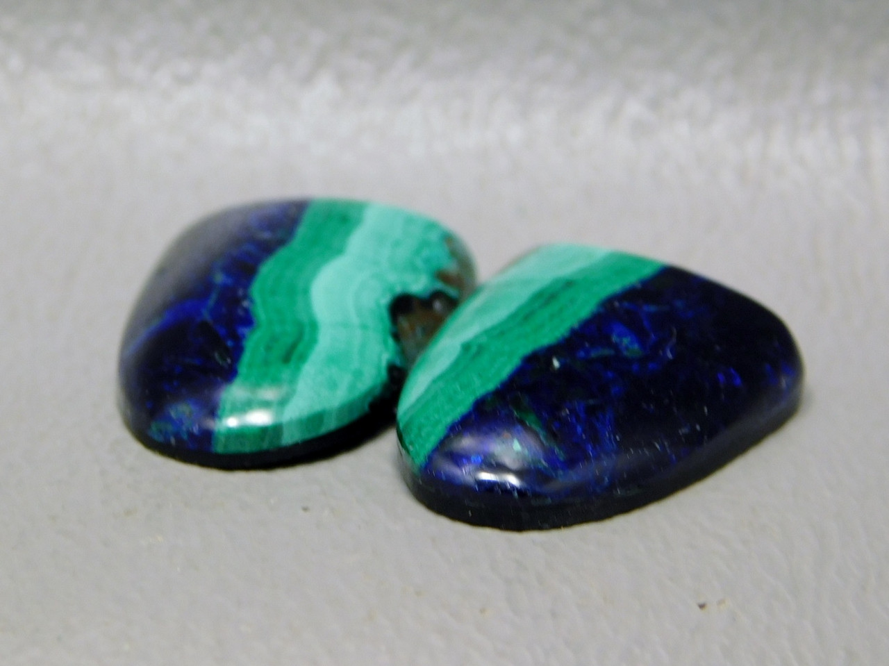 Azurite Malachite Blue Green Matched Pairs Cabochons Shields #32