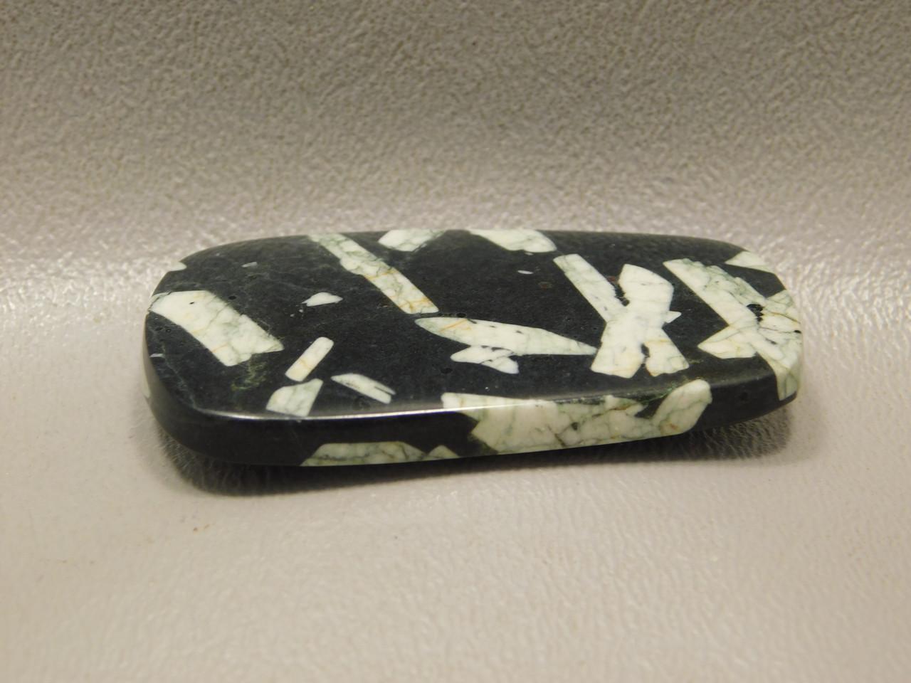 Chinese Writing Rock Cabochon Stone Ladder Shaped Gemstone #1