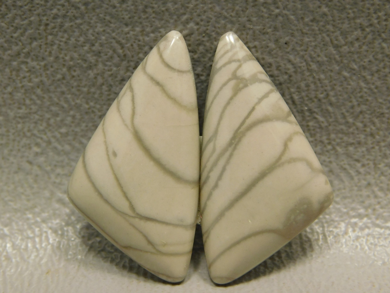 Earring Cabochons Willow Creek Jasper Matched Pair Triangle Stones #10