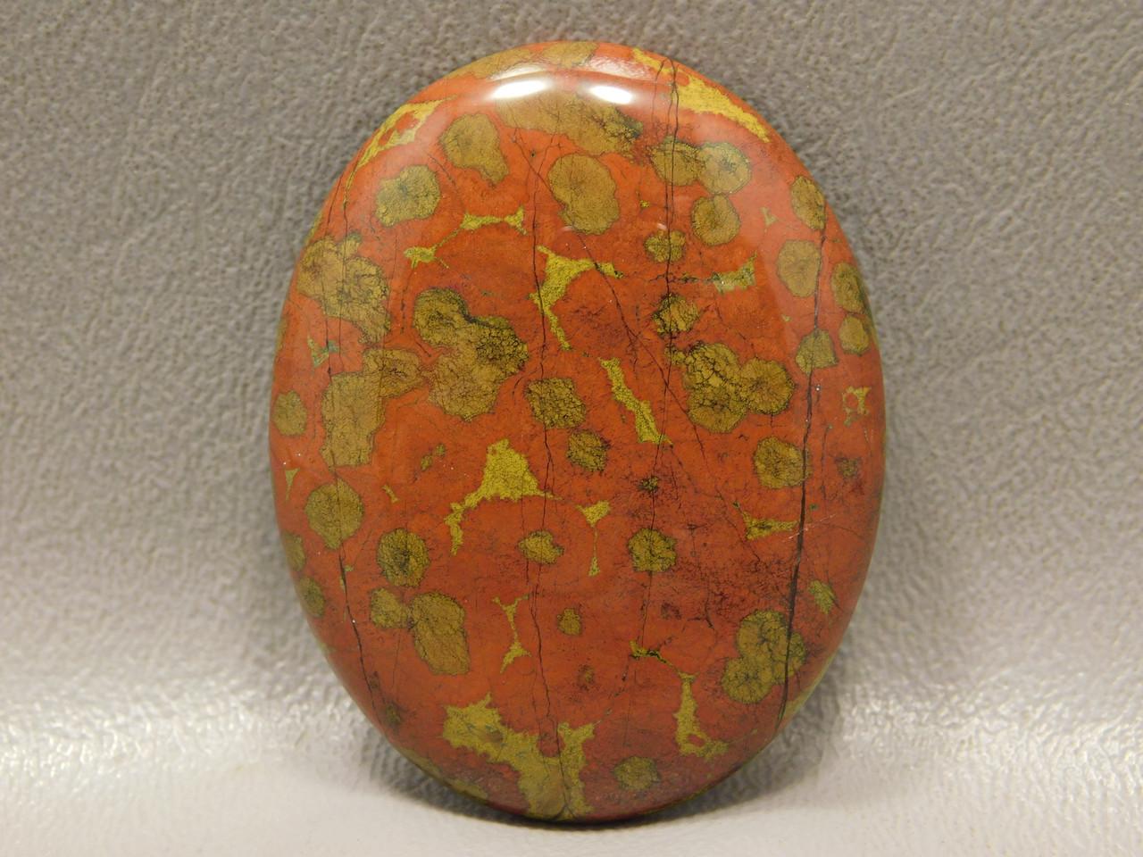 Orbicular Morgan Hill Poppy Jasper Jewelry Cabochon Stone #10