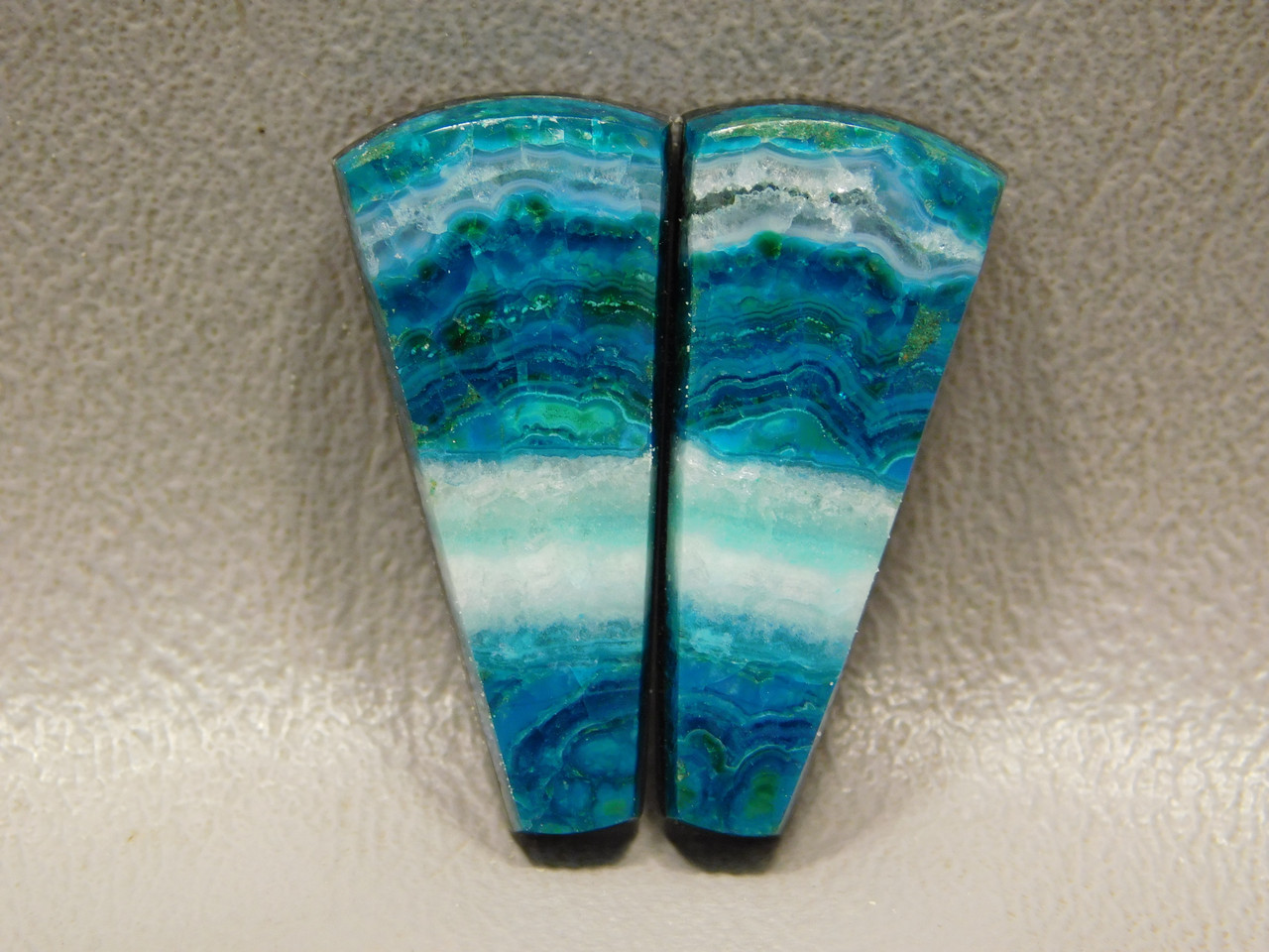 Chrysocolla Malachite Matched Pair Best Cabochons for Earrings #33