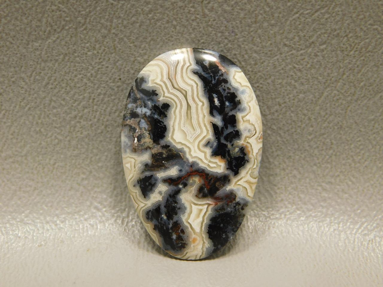 Crazy Lace Agate Cabochon Stone Elliptical or Egg Shaped #12