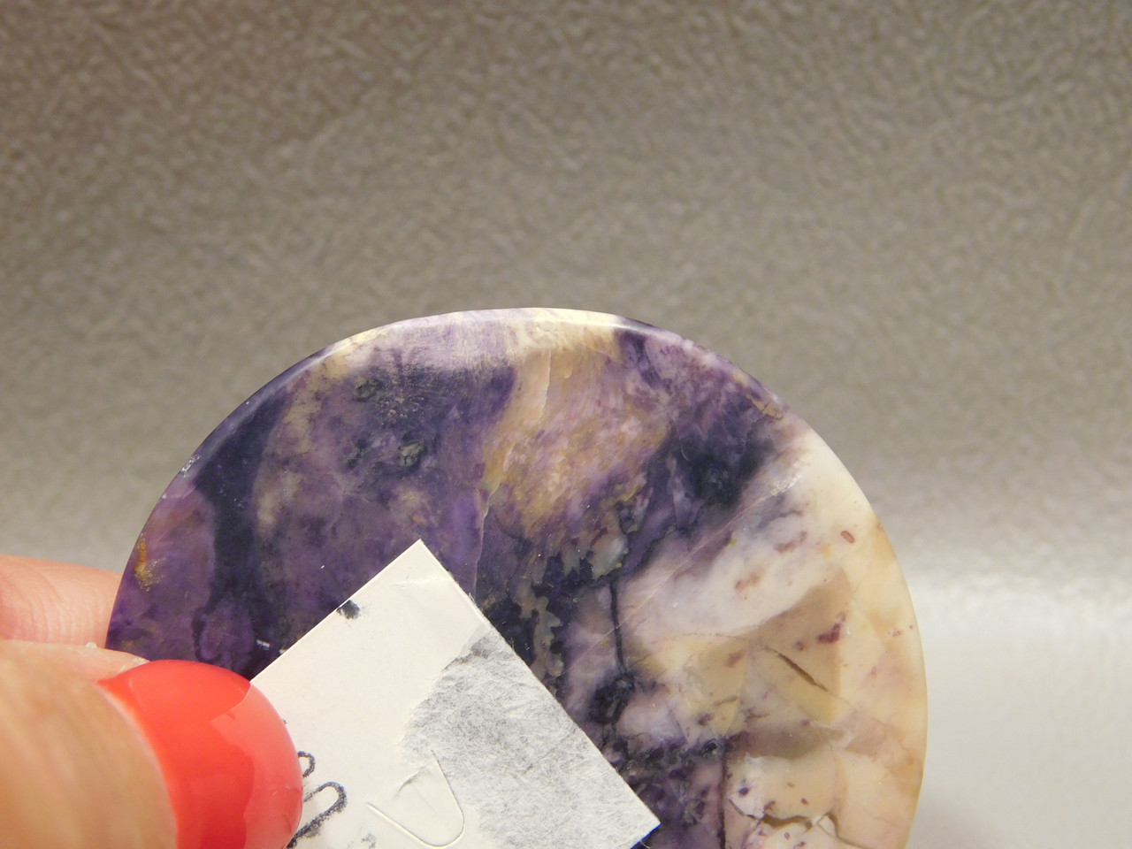Cabochon Tiffany Deep Purple Utah 40 mm Round Stone #2