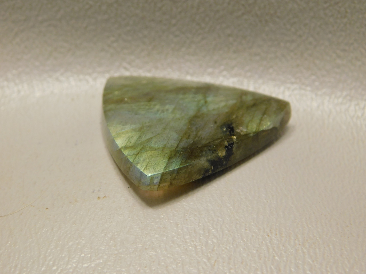 Iridescent Rainbow Labradorite Cabochon Triangle #18