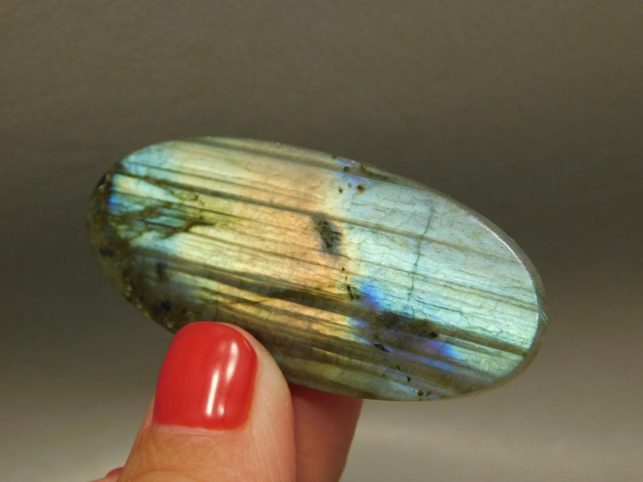 Iridescent Rainbow Labradorite Cabochon Oval Stone #2