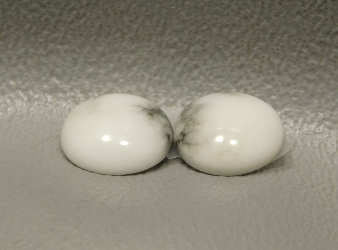 Cabochons Howlite Matched Pair Stones Small 11 mm Rounds #2
