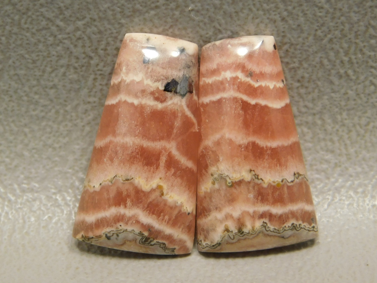 Cabochon Stones Rhodochrosite Matched Pairs  for Earring Making #14