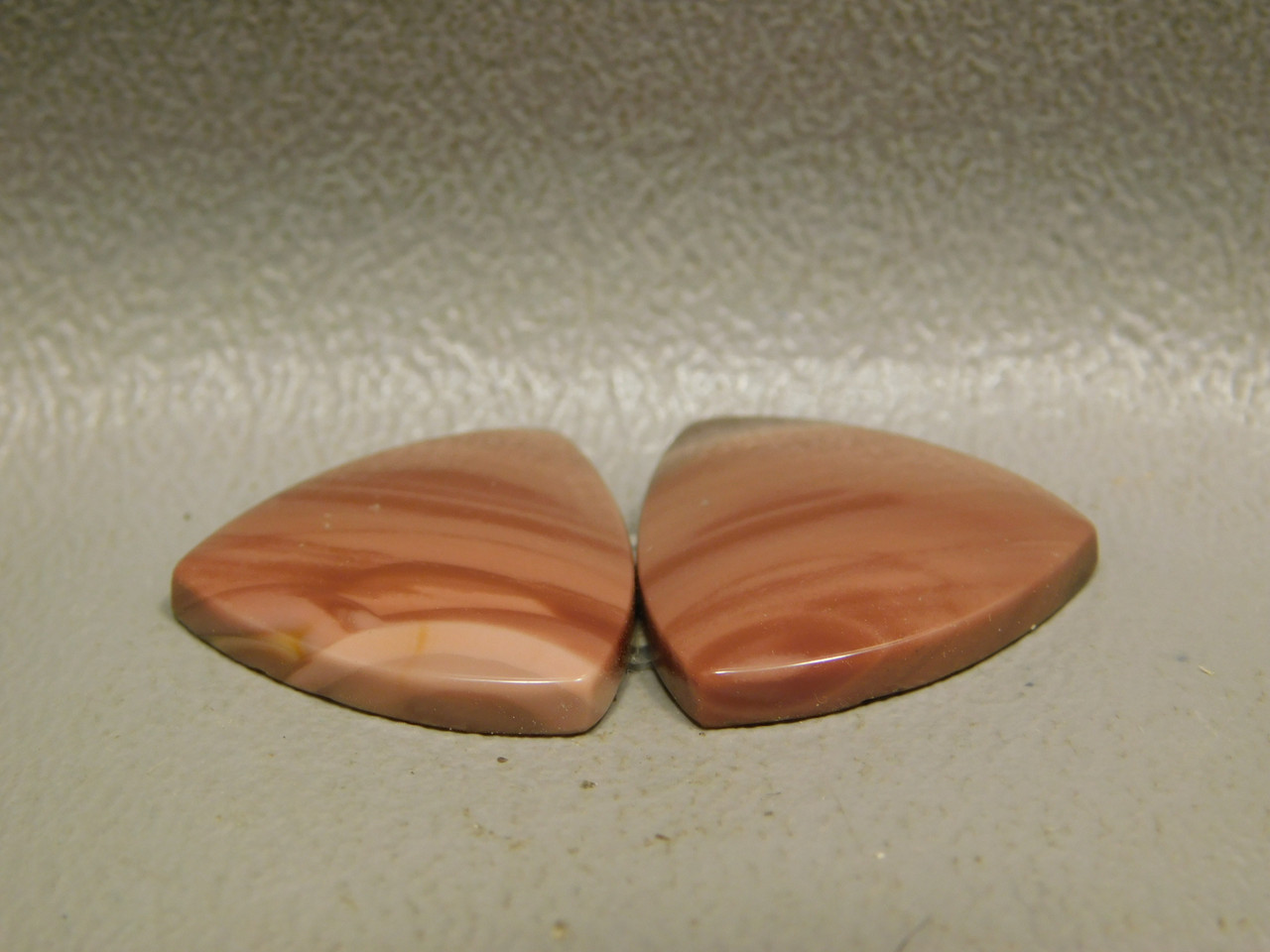 Royal Imperial Jasper Cabochon Stone Matched Pair 18 mm Trillion #9