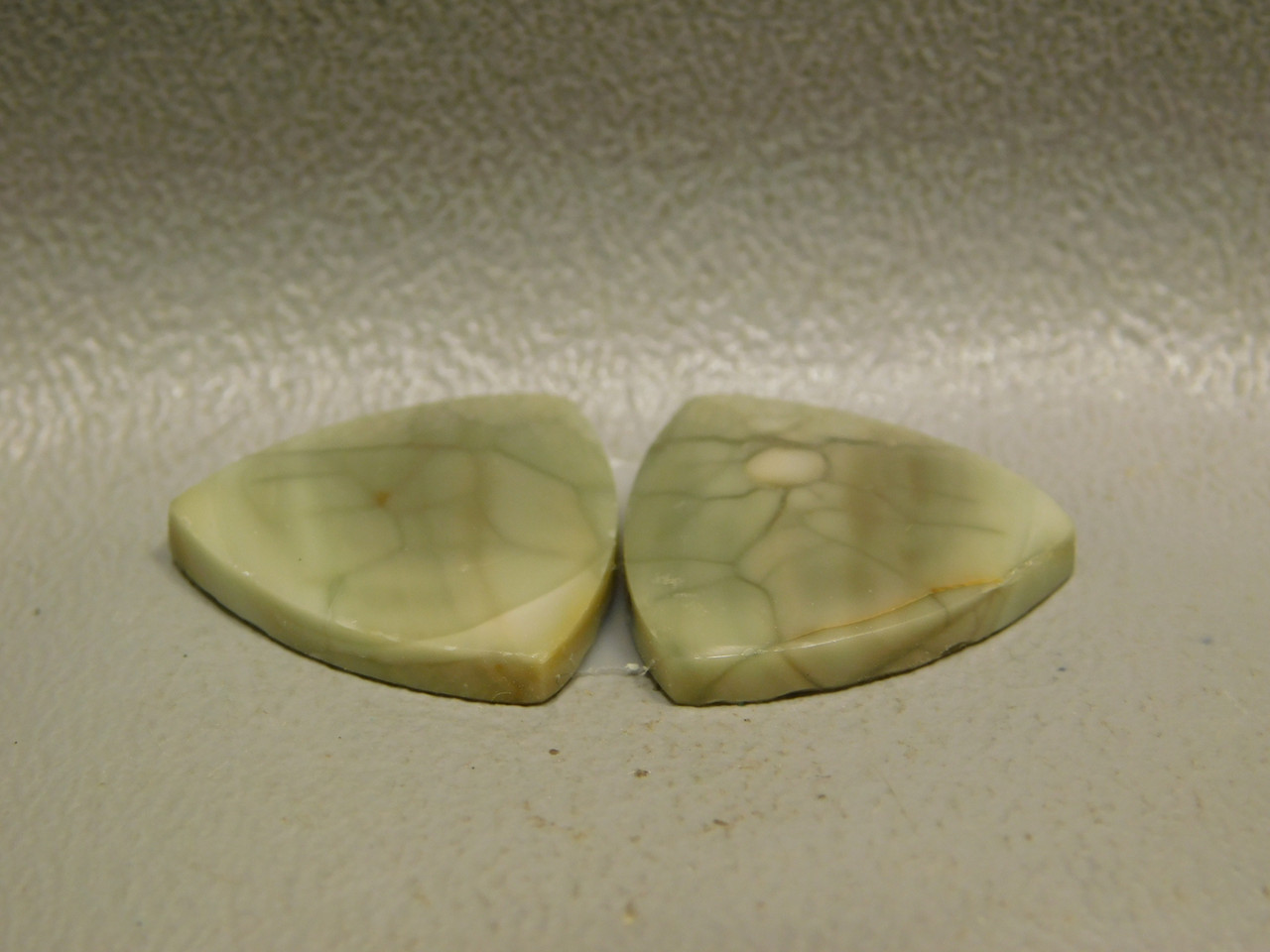 Royal Imperial Jasper Cabochon Stone Matched Pair 18 mm Green #5