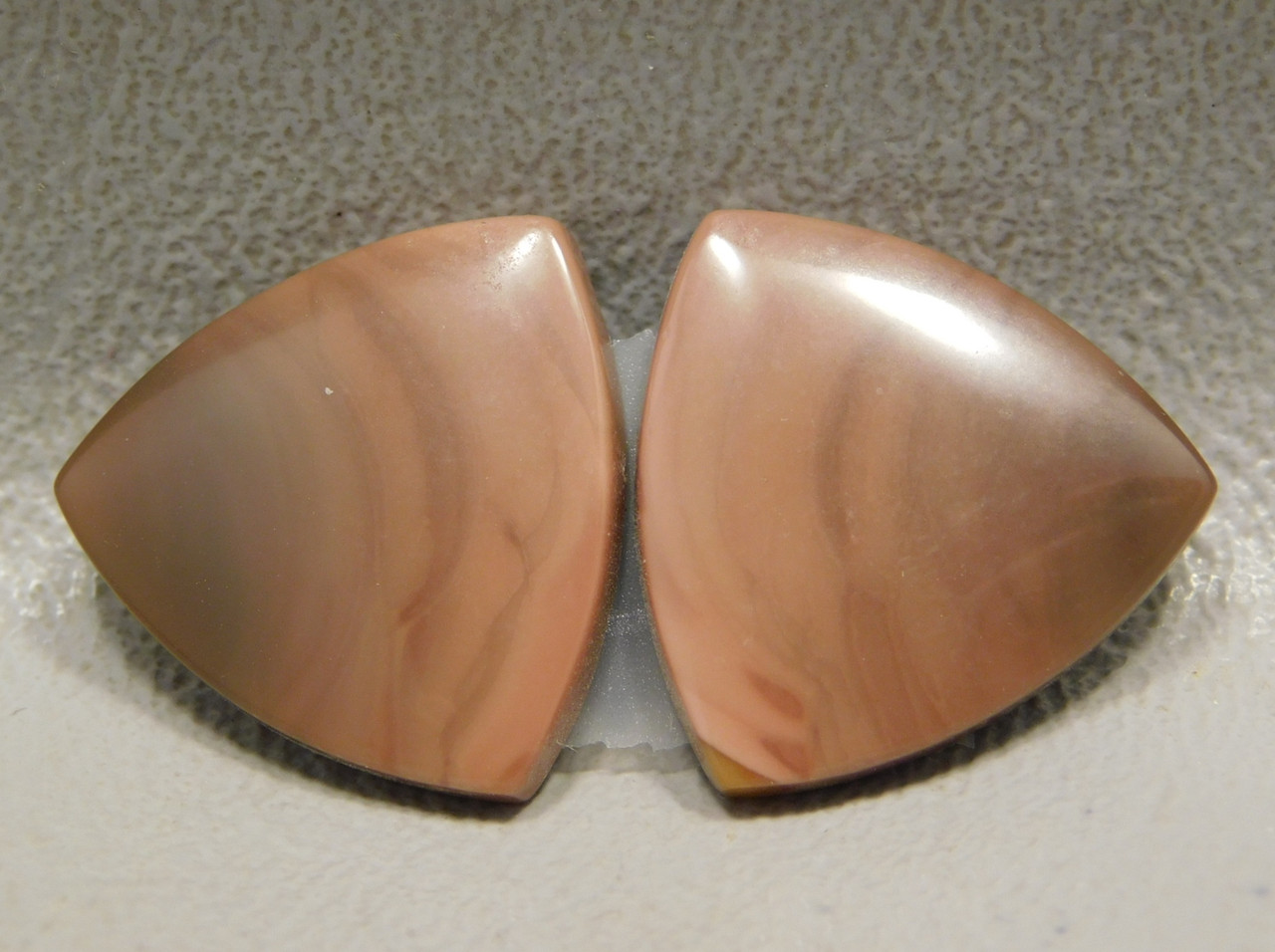 Royal Imperial Jasper Cabochon Stone Matched Pair Trillion #13
