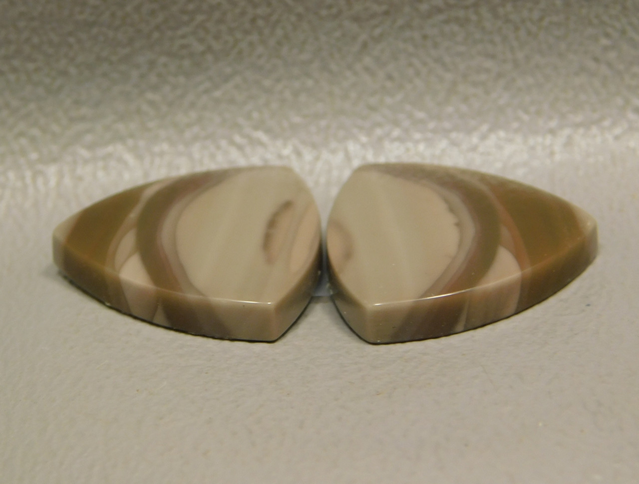 Royal Imperial Jasper Cabochon Stones Matched Pair Triangles #16
