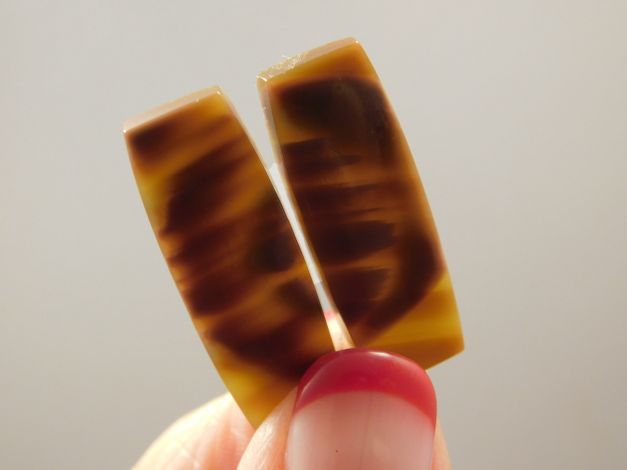 Royal Imperial Jasper Matched Pair Cabochon for Jewelry Making #4