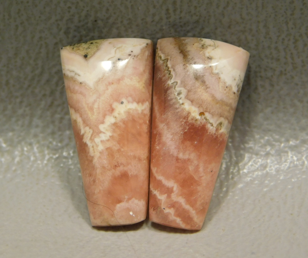Cabochon Stones Rhodochrosite Small Matched Pairs  for Earrings #17
