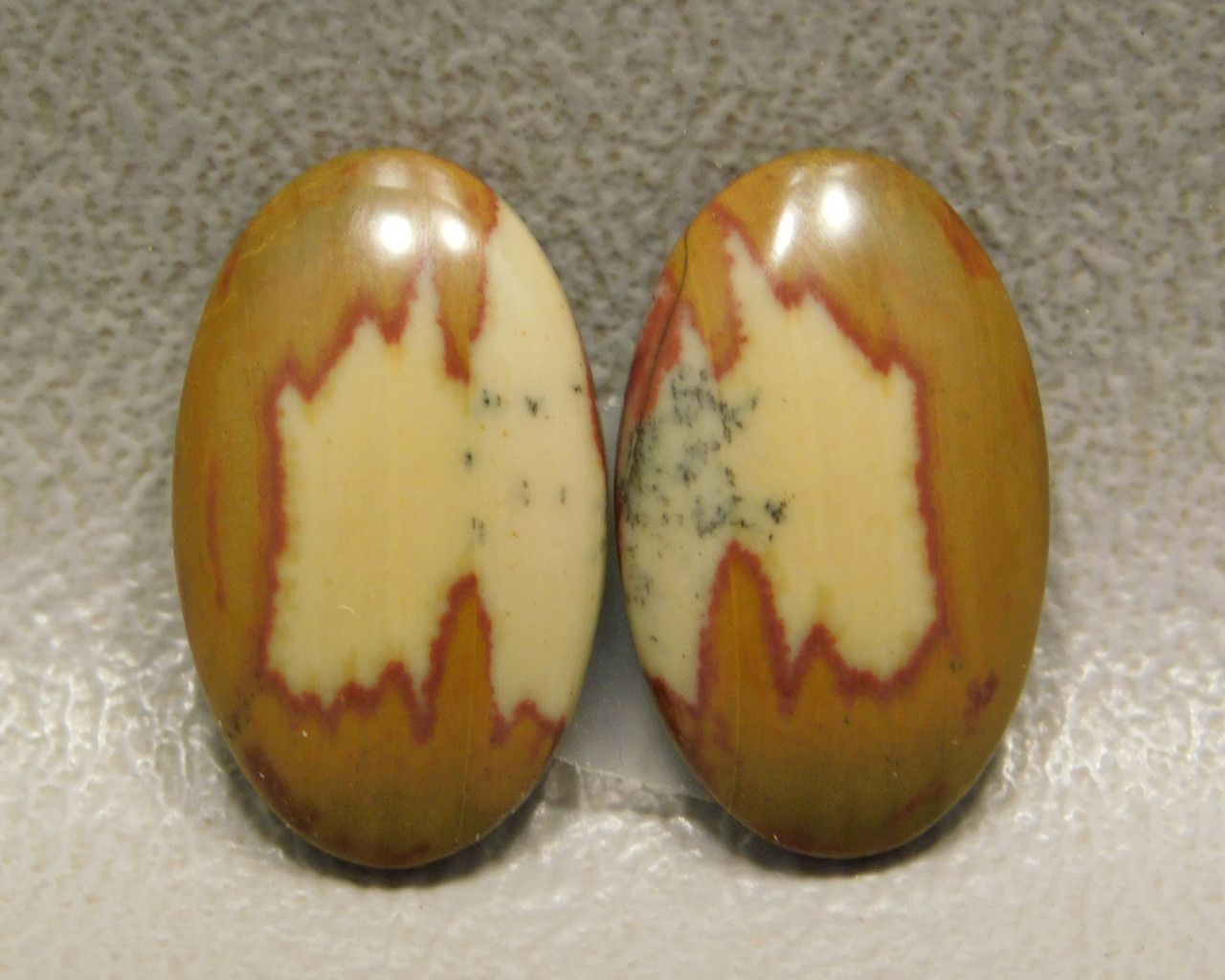 Owyhee Picture Jasper Small Oval Matched Pair Cabochons #18