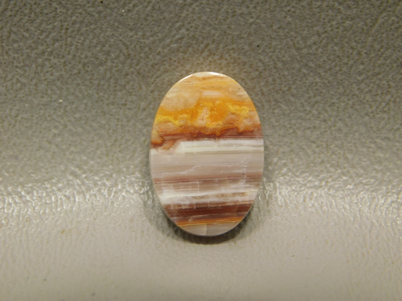Candy Opal Red Banded Small Ring Stone Cabochon Pink Red Striped #11