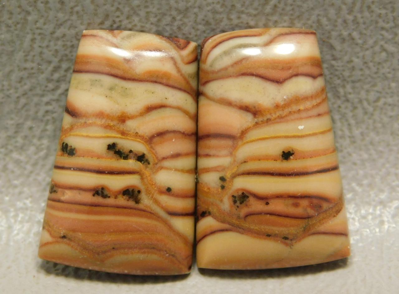 Stones Cabochons Wave Dolomite Matched Pairs Stromatolites #19