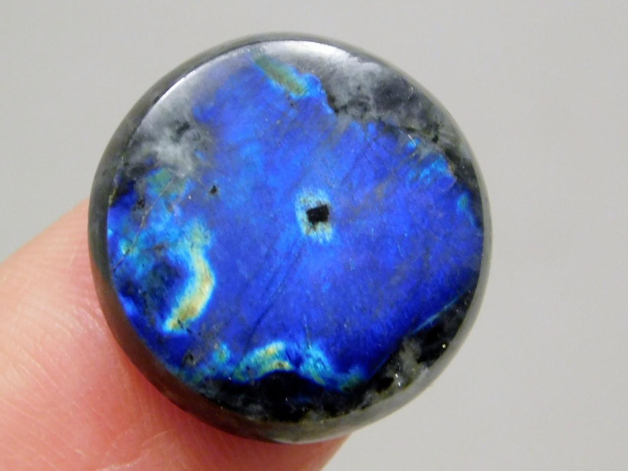 Blue Spectrolite Cabochon Semi Precious 17 mm Round Stone #13