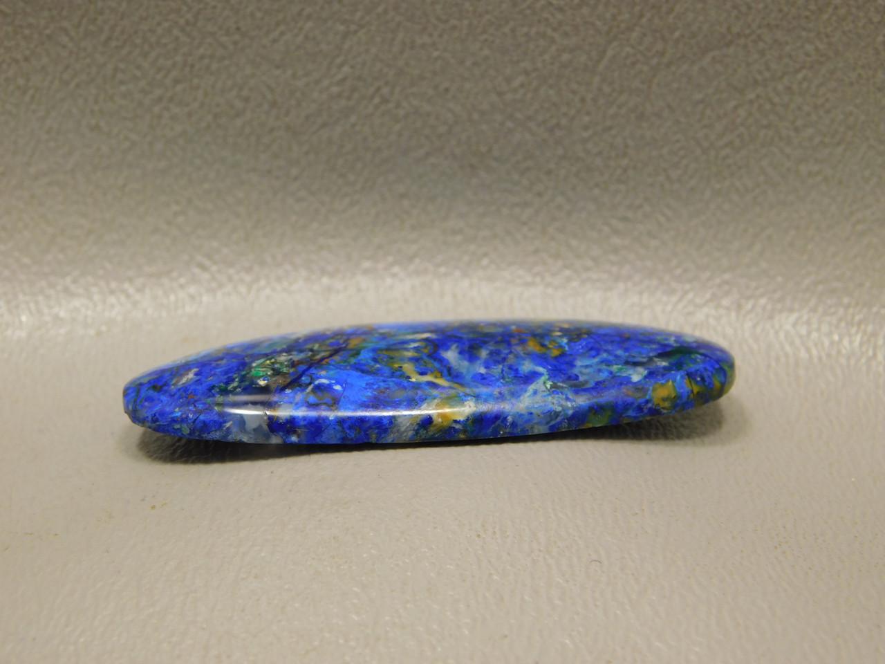 Azurite Malachite Bluebird Arizona Blue Stone Thin Oval Cabochon #23