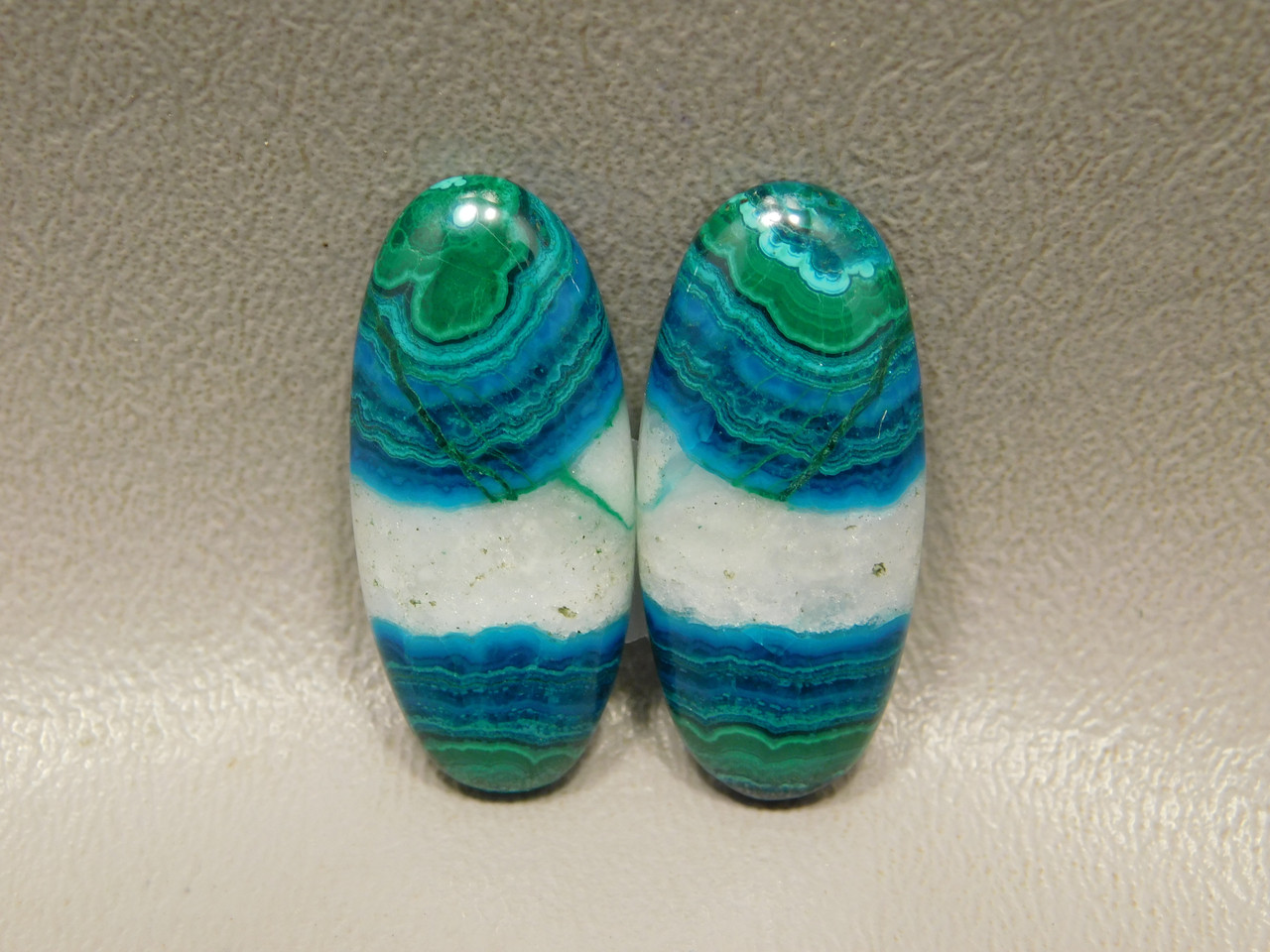 Chrysocolla Malachite Large Ovals Cabochons Blue Green White #7