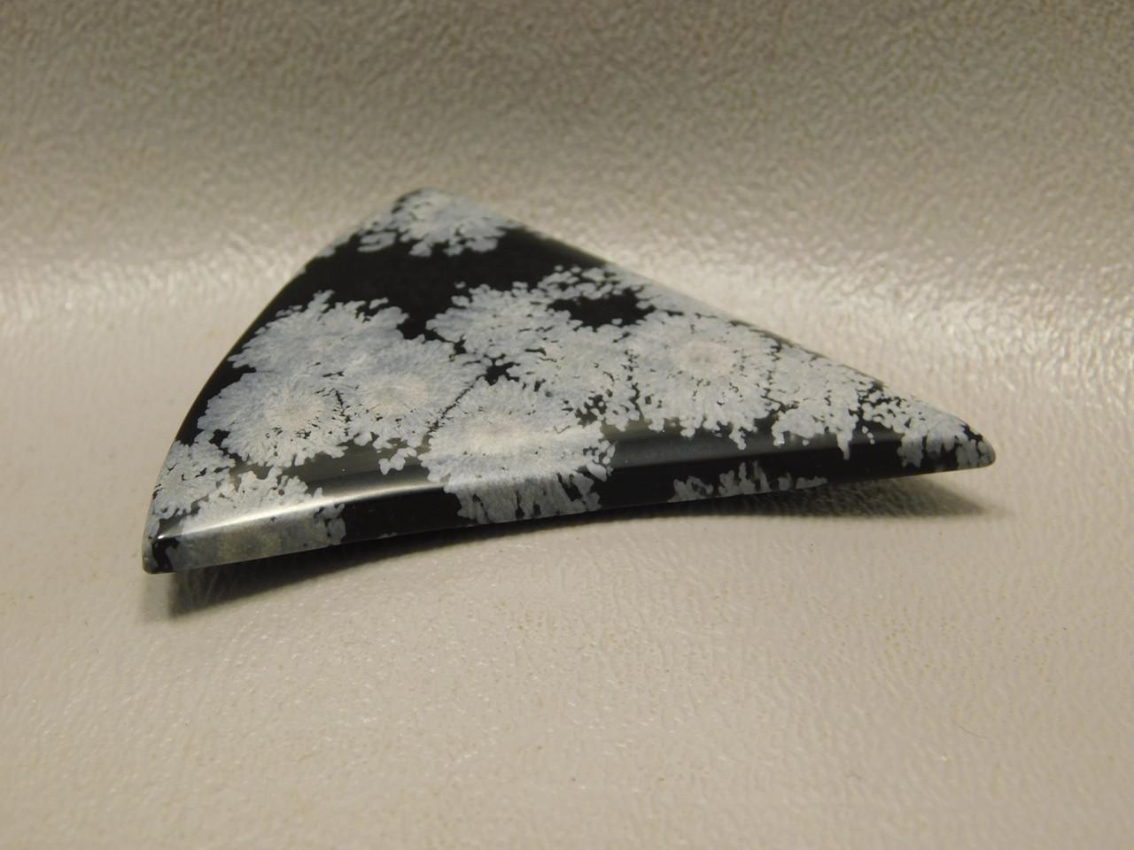 Snowflake Obsidian Designer Cabochon Freeform Sail Shaped #19