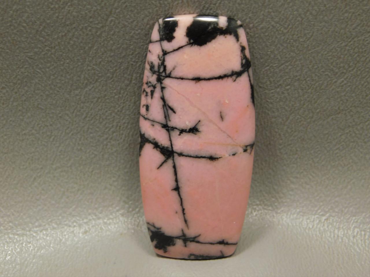 Designer Cabochon Pink Rhodonite Jewelry Stone Australia #2