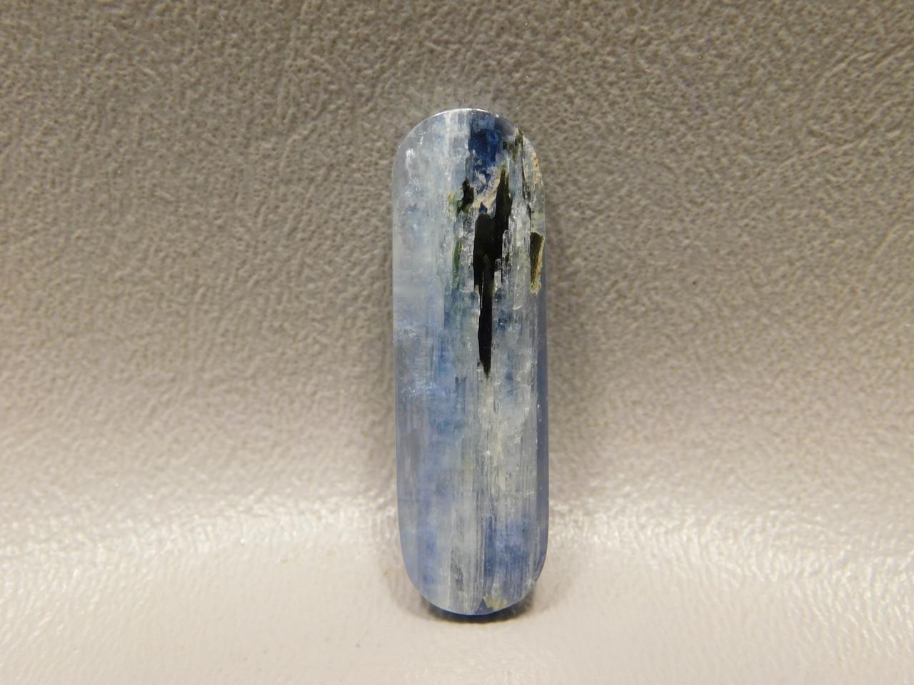 Kyanite Rectangle Rounded Bar Blue Gemstone Cabochon #7