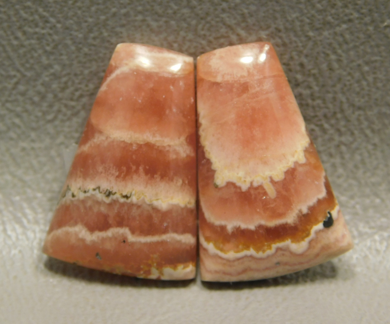 Pink Rhodochrosite Natural Stone Cabochons Matched Pairs #2