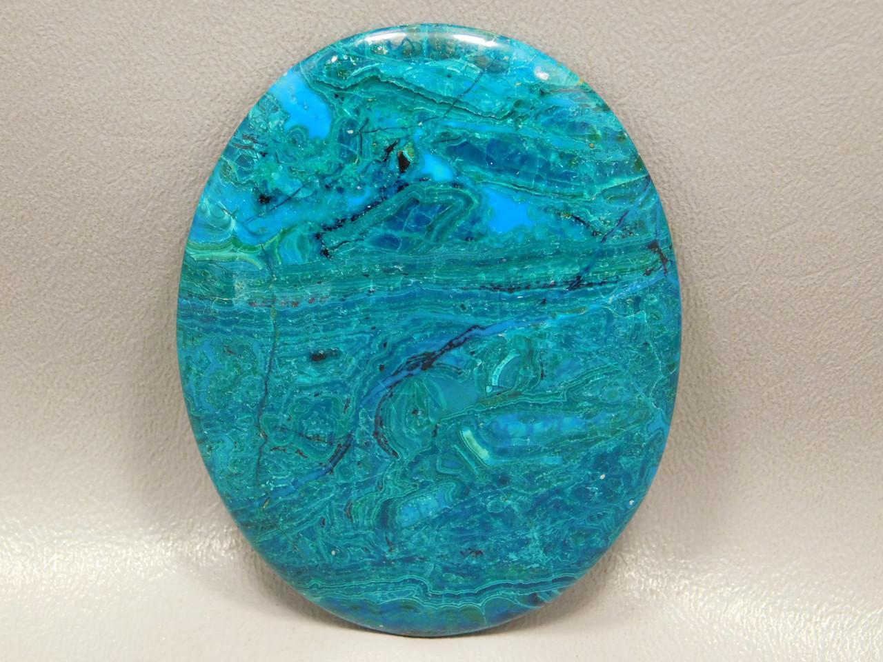 Chrysocolla Malachite Designer Large Collector Stone Cabochon #XL2