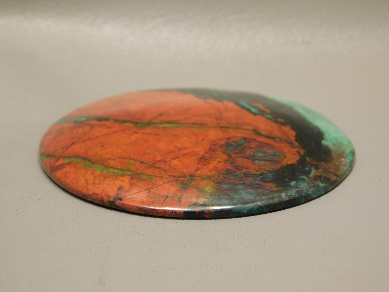 Sonora Sunset Chrysocolla Cuprite 3 inch Large Round Cabochon #xl4