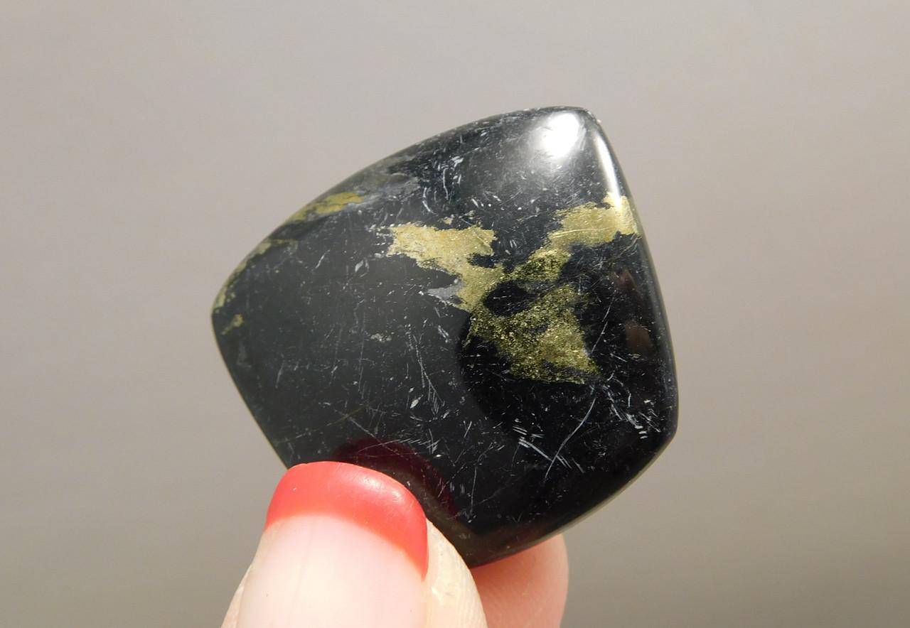 Freeform Black Apache Gold Designer Stone Cabochon Arizona #23