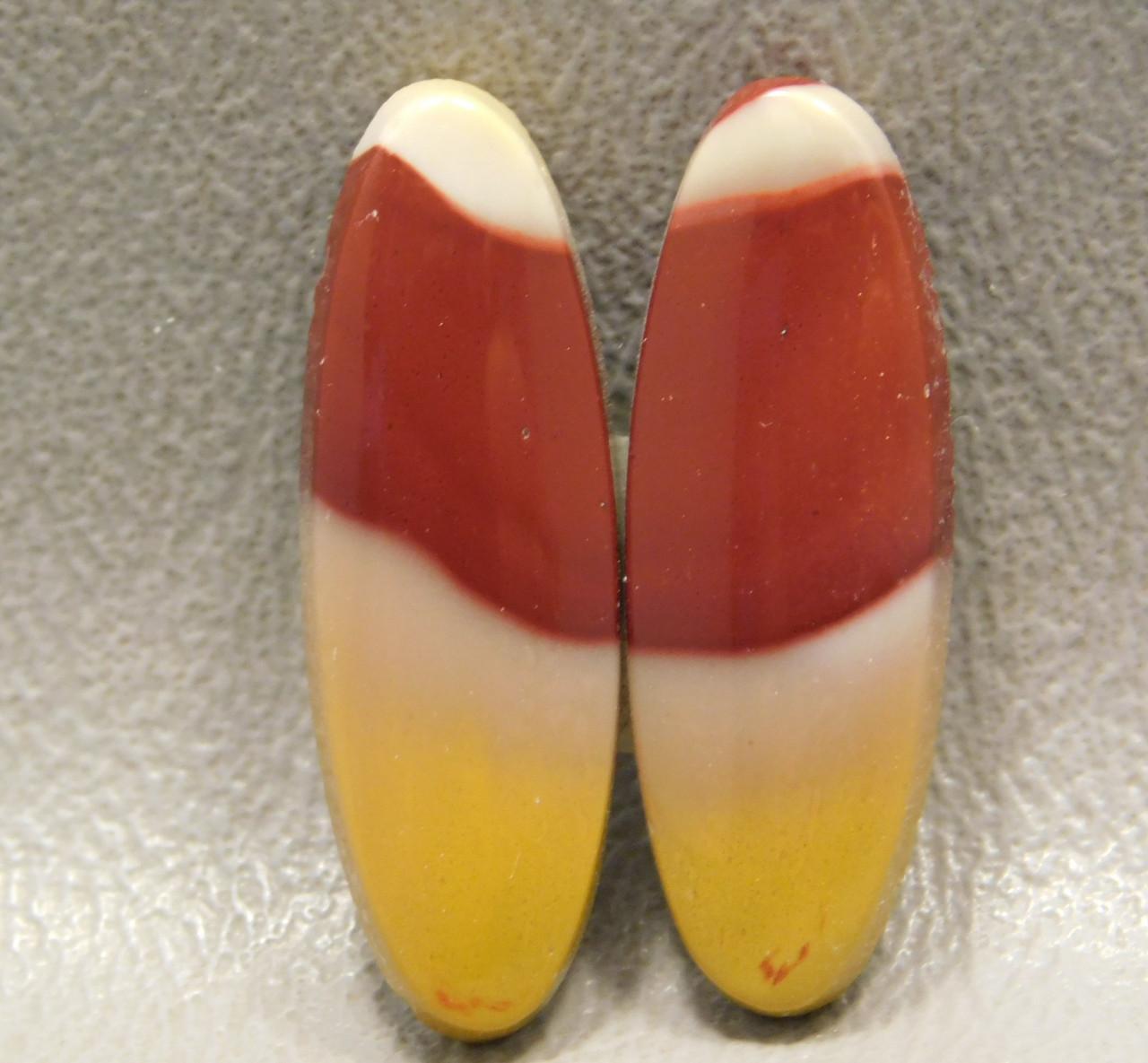 Mookaite Jasper Cabochons Pairs Red Yellow Ovals Stones #2