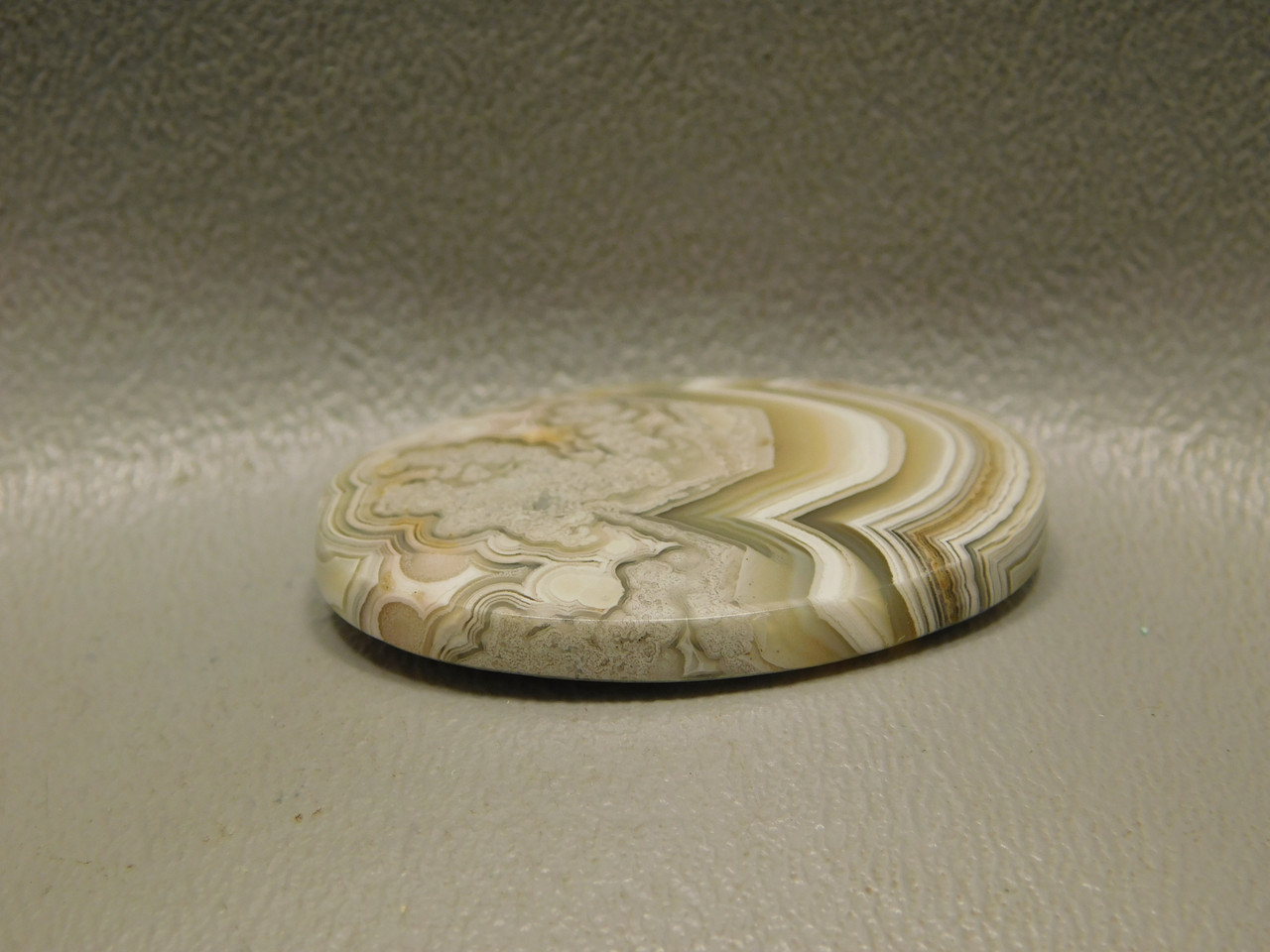 Mexican Crazy Lace Agate Oval White Loose Stone Cabochon #19