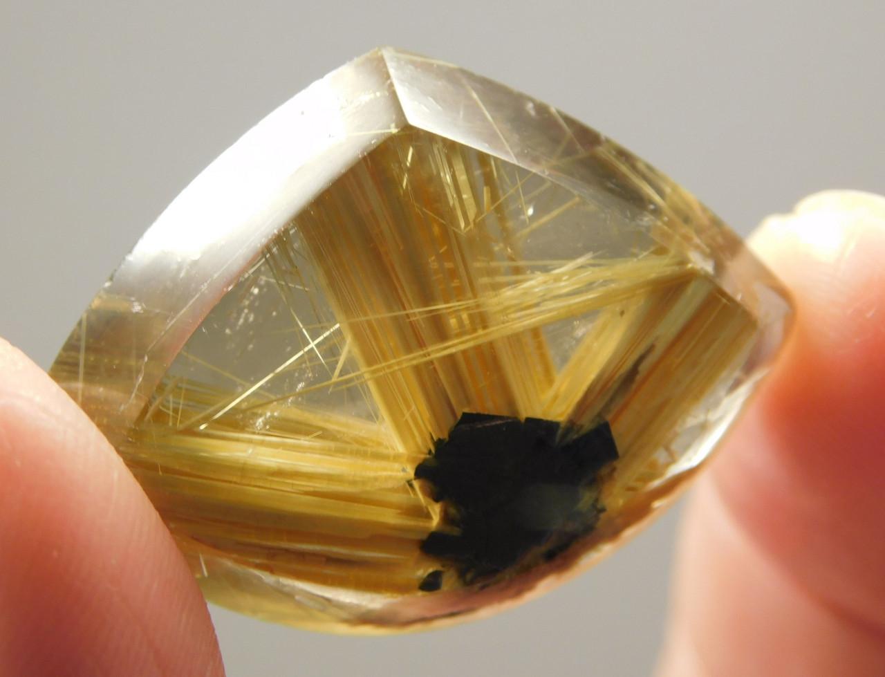 Star Rutile Quartz Rutilated Gemstone Cabochon #SRQ1
