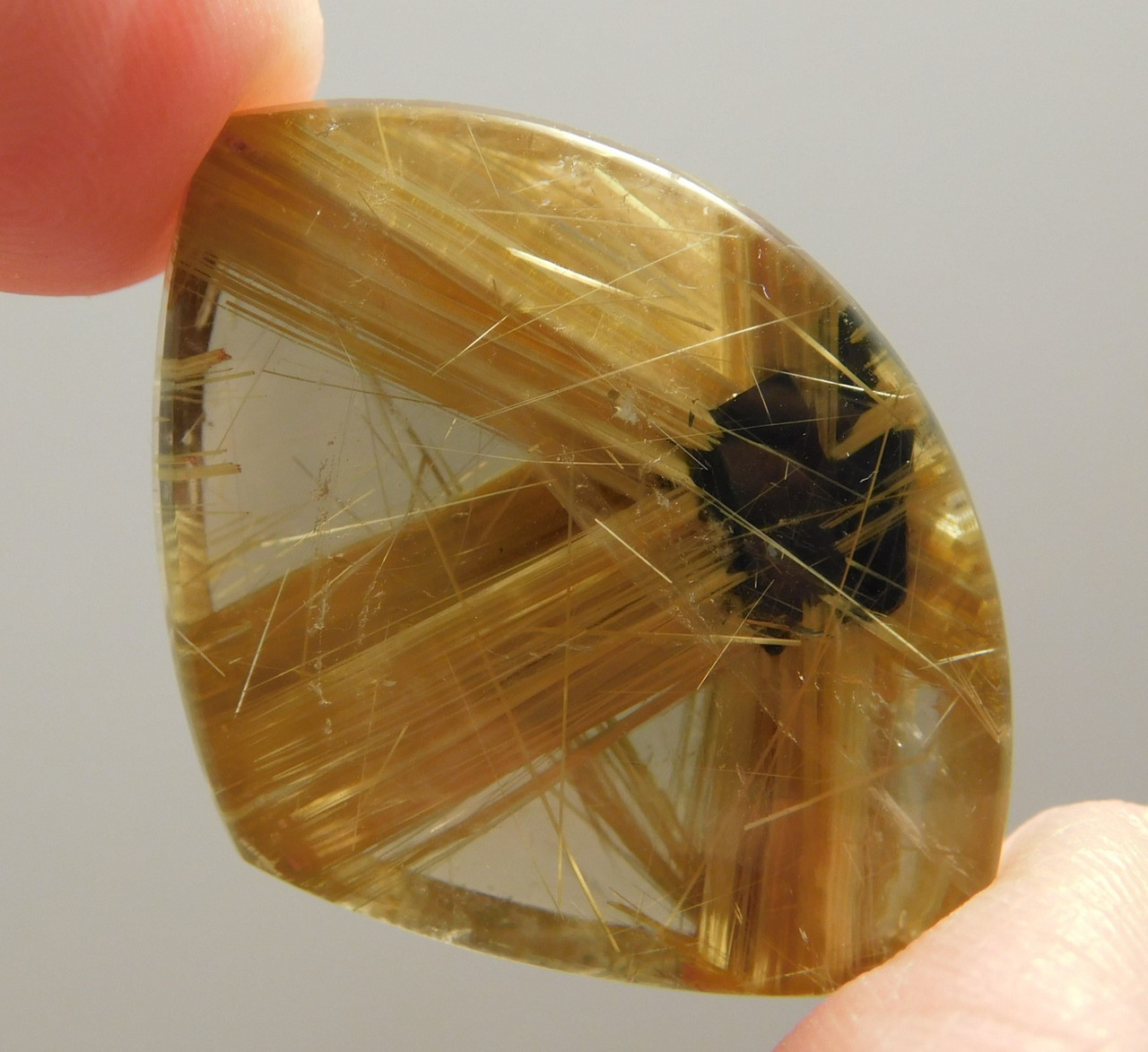 Star Rutile Quartz Rutilated Gemstone Cabochon #SRQ1