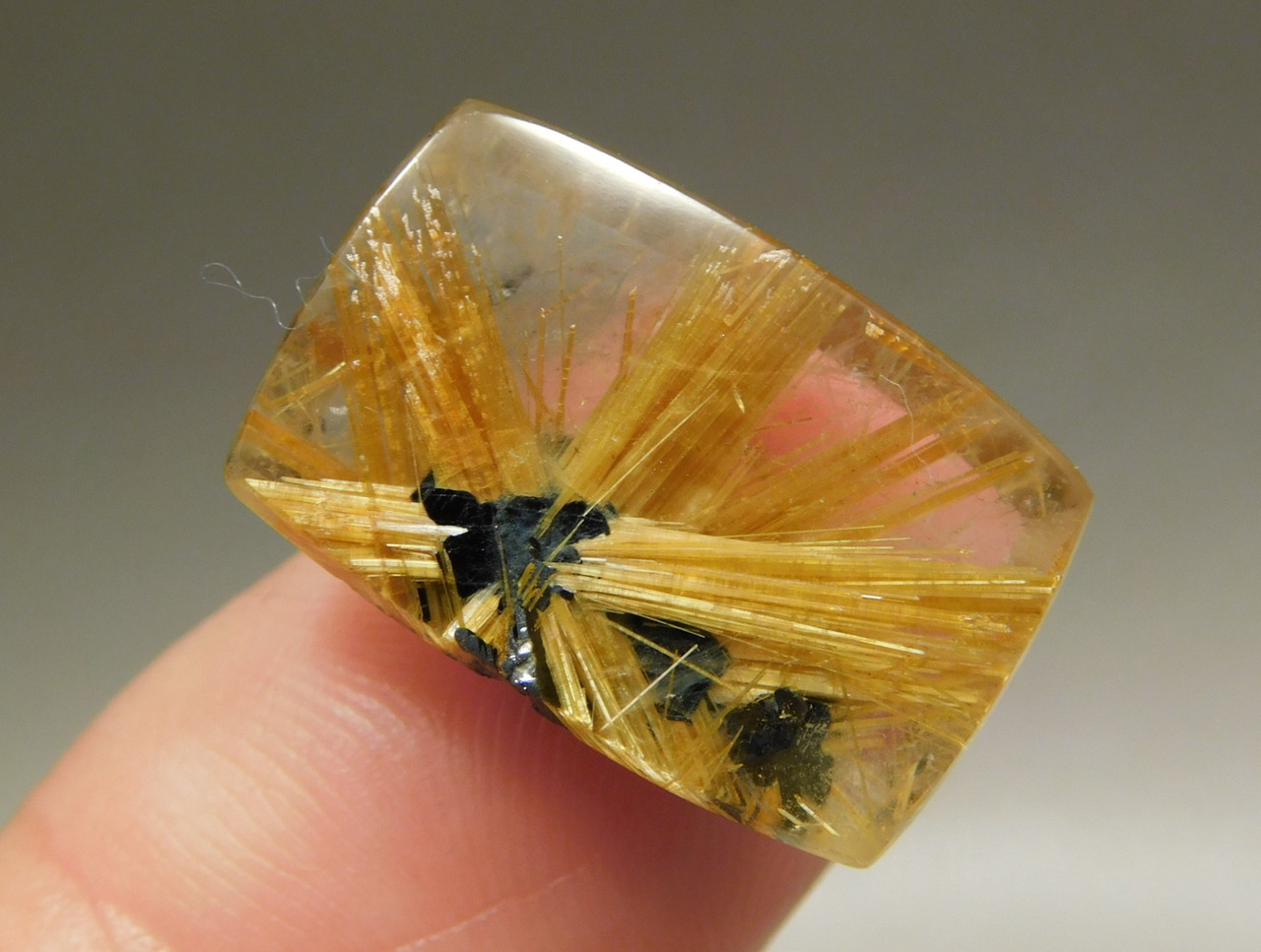 Star Rutile Quartz Rutilated Cabochon Rectangle Shaped #SRQ5