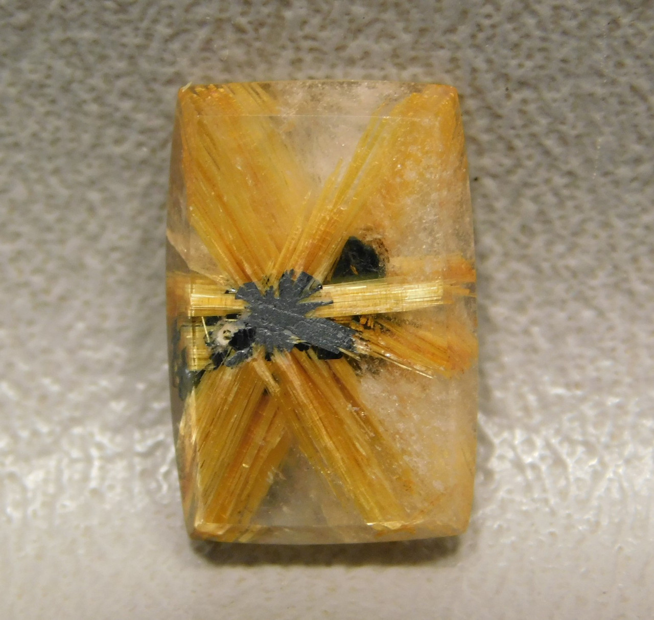 Star Rutile Quartz Rutilated Cabochon Rectangle Shaped #SRQ8