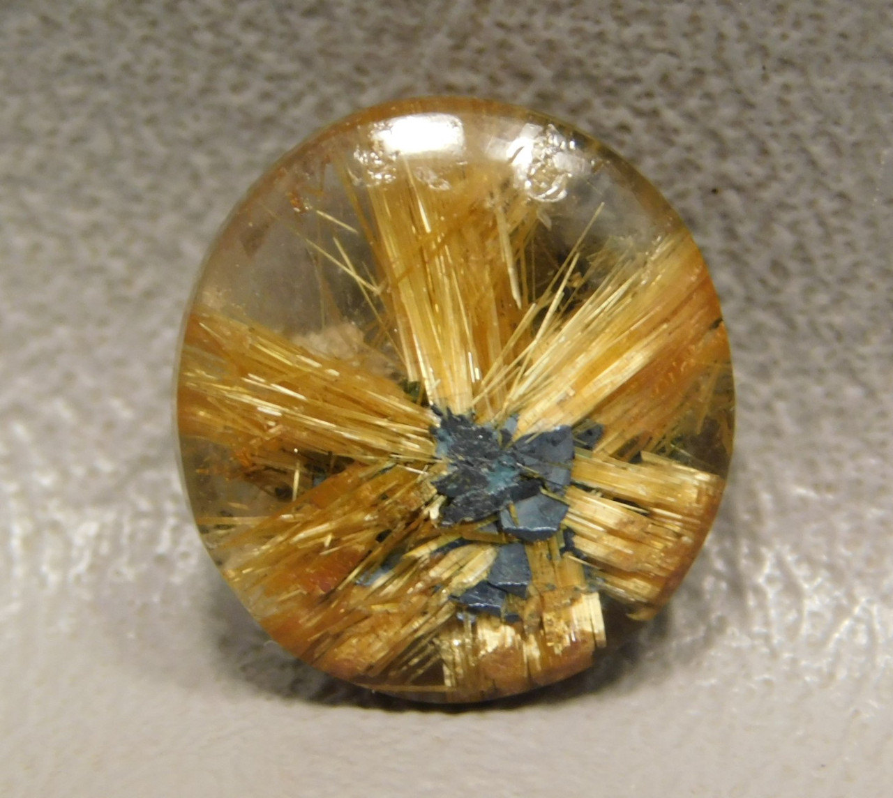 Star Rutile Quartz Rutilated Cabochon Small Round Shaped #SRQ7