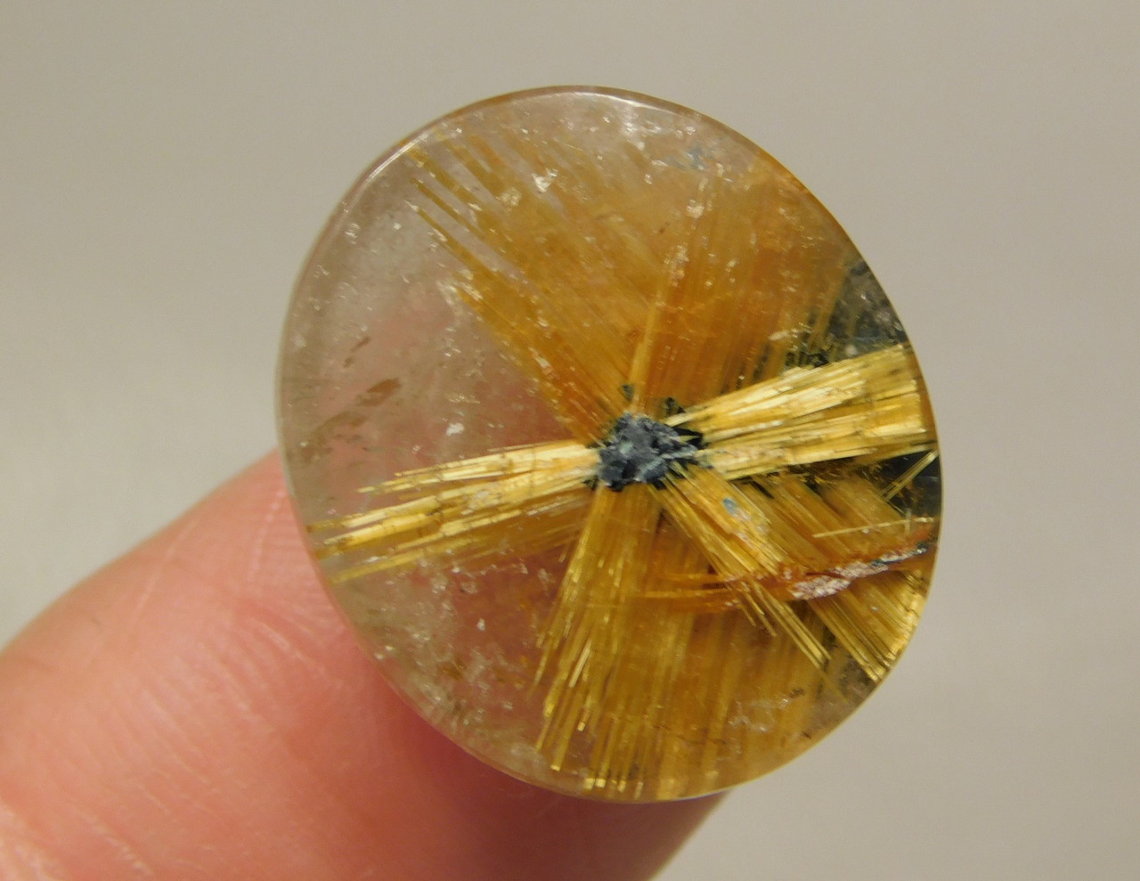 Star Rutile Quartz Rutilated Clear Gemstone Cabochon #SRQ12